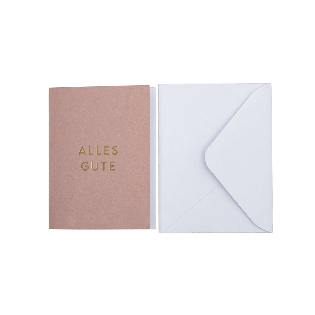 "Greeting card, ""Alles Gute"" with envelope"