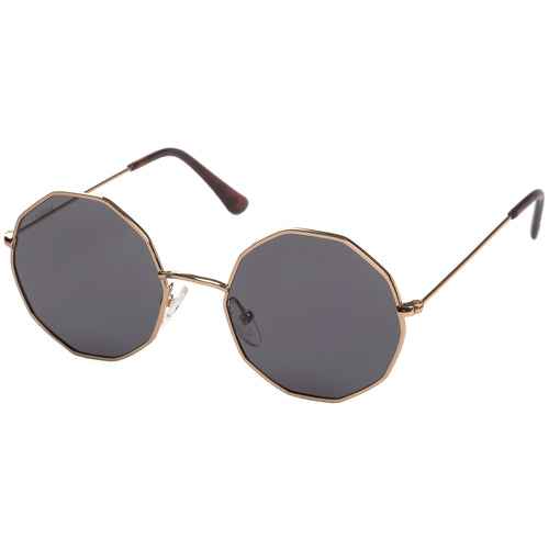 Sunglasses : Annora_PI : Gold Plated : Grey