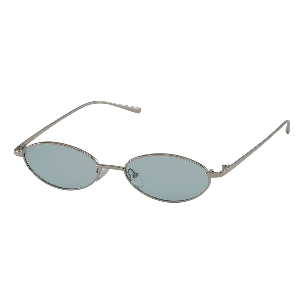 Sunglasses : May : Silver Plated : Green