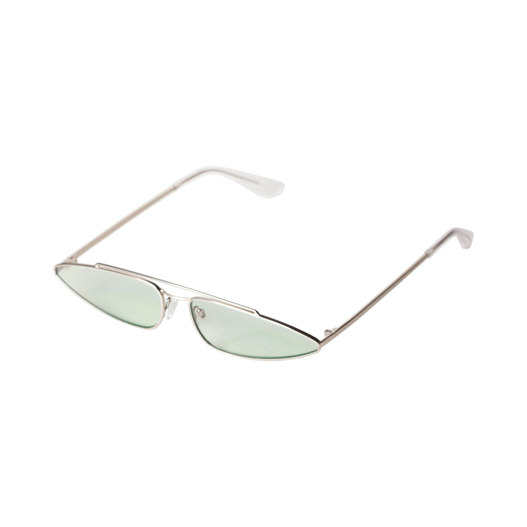 Sunglasses : Cyder : Silver Plated : Green