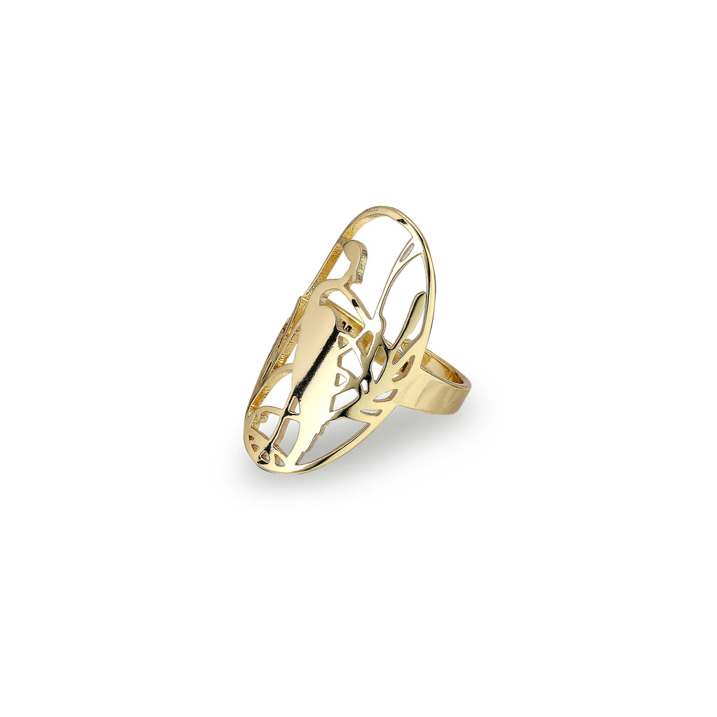 Ring : Jada : Guldbelagt