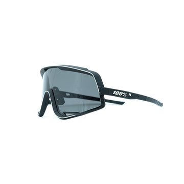100% Glendale Sunglasses - Soft Tact Black (Smoke) - CCACHE