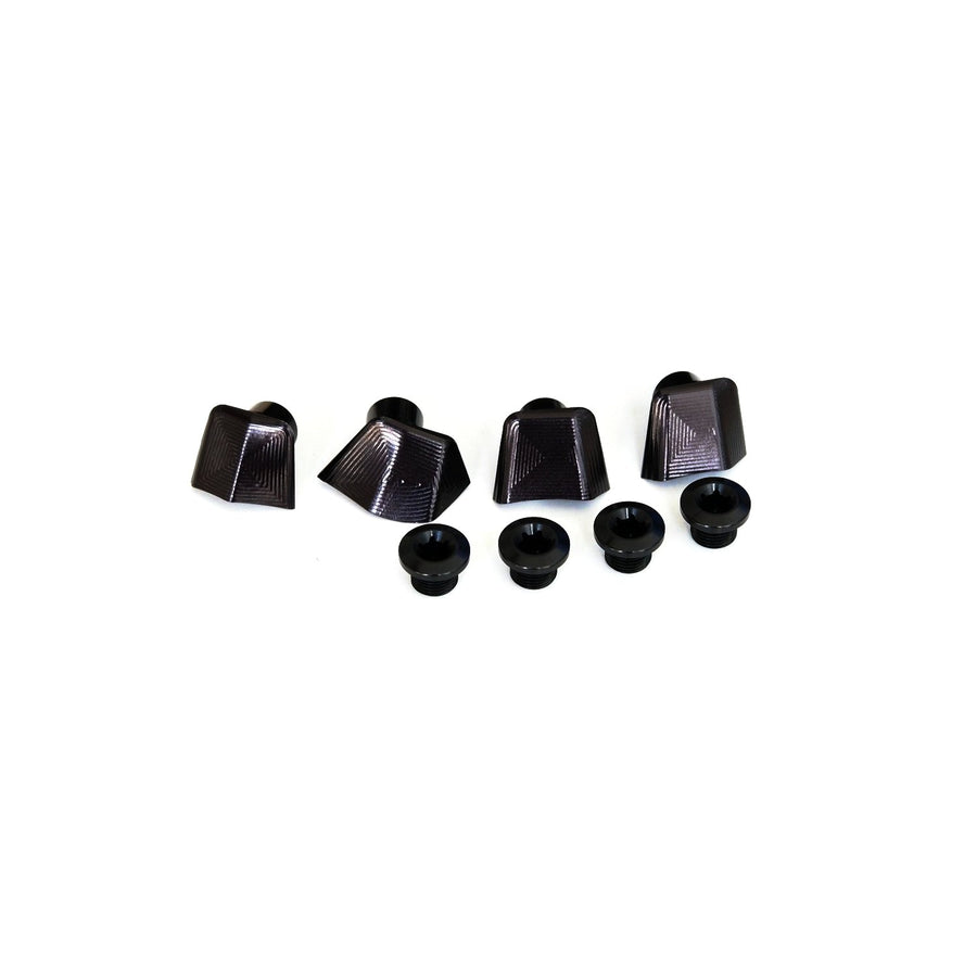 absoluteBLACK Crank Bolt Covers for Dura-Ace R9100 - Black - CCACHE