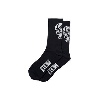 attaquer-big-skull-socks-black