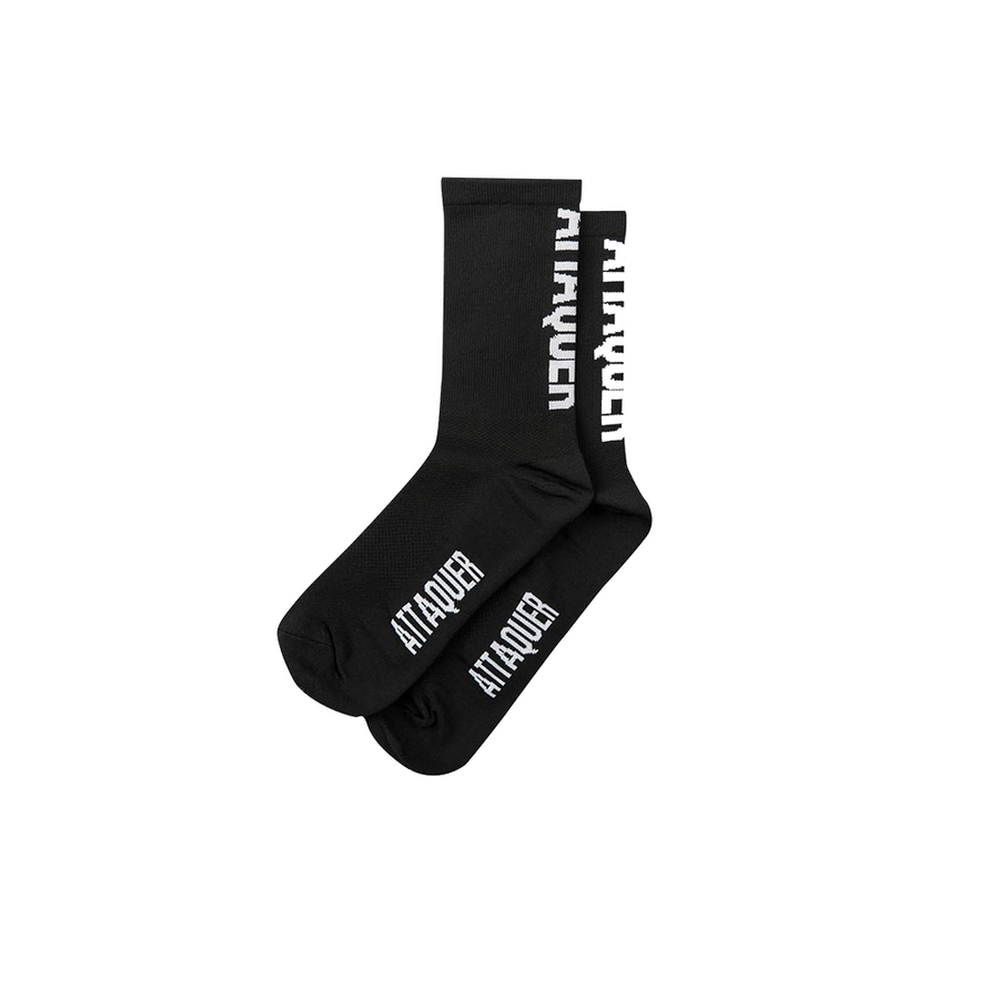 attaquer-vertical-logo-socks-black-side