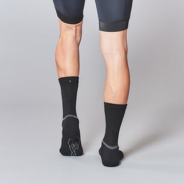 Fingerscrossed Merino Winter Socks - Black - CCACHE
