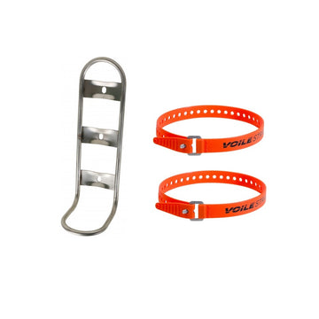 King Cage Titanium Many Things Cage + Orange Voile Straps - CCACHE