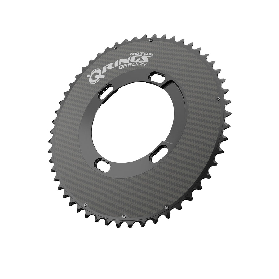 rotor-qarbon-q-ring-oval-outer-chainring-shimano-closeup