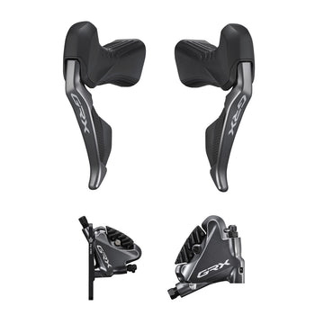 Shimano GRX Di2 Shifters with Flat Mount Calipers (ST-RX815 + BR-RX810) - CCACHE