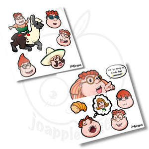 Carl Sticker Sheets - joapplesauce