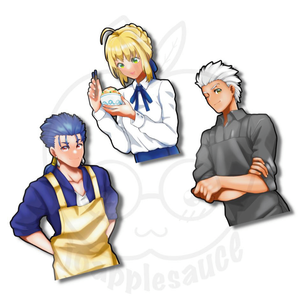 Lancer, Saber, Archer - joapplesauce