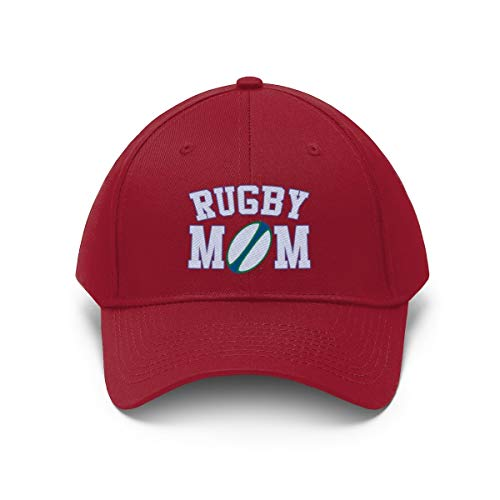 TropicalTees.Shop Embroidered Rugby Mom Twill Hat Baseball Cap (Choice of 10 Colors)