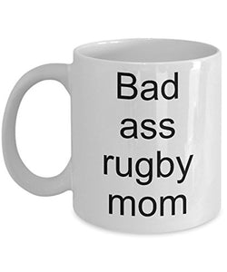 Rugby Mom Mug for her- Bad ass rugby mom- Funny coffee cup-Mothers day-Birthday present