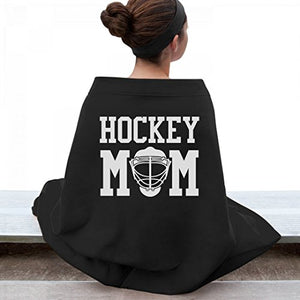 Hockey Mom Bleacher Blanket: Gildan Dryblend Stadium Blanket