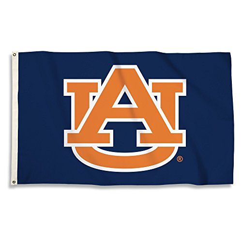 NCAA Auburn Tigers 3 X 5 Foot Flag with Grommets, Navy,