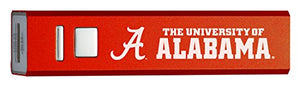 University of Alabama - Portable Cell Phone 2600 mAh Power Bank Charger - Crimson