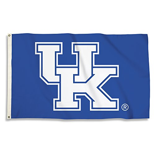 NCAA Kentucky Wildcats 3 X 5 Foot Flag with Grommets, Royal,