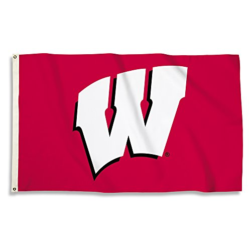 NCAA Wisconsin Badgers 3 X 5 Foot Flag with Grommets, Red,