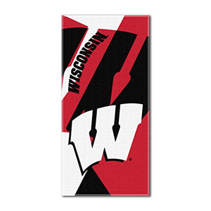 "The Northwest Company Officially Licensed NCAA Wisconsin Badgers Puzzle Beach Towel, 34"" x 72"""