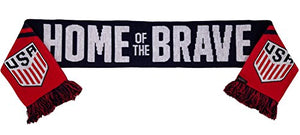 Official United States National Team Soccer Scarf- Home of the Brave Scarf, One Size, Red