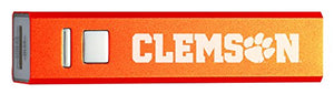 Clemson University - Portable Cell Phone 2600 mAh Power Bank Charger - Orange