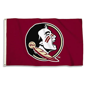NCAA Florida State Seminoles 3 X 5 Foot Flag with Grommets, Maroon,