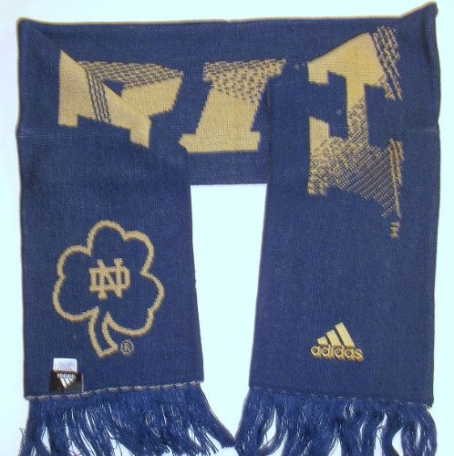 adidas NCAA Notre Dame FIghting Irish FIGHT SONG Fringe Scarf