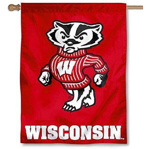 College Flags and Banners Co. University of Wisconsin Badgers House Flag