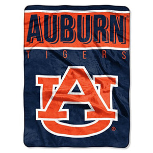 "The Northwest Company Officially Licensed NCAA Auburn Tigers Basic Raschel Throw Blanket, 60"" x 80"", Navy"