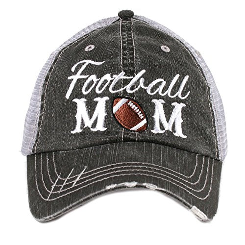 Football Mom Sports Womens Trucker Hat Cap by Katydid,Gray,One Size