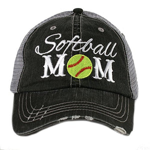 Softball Mom Sports Women's Trucker Cap Hat by Katydid