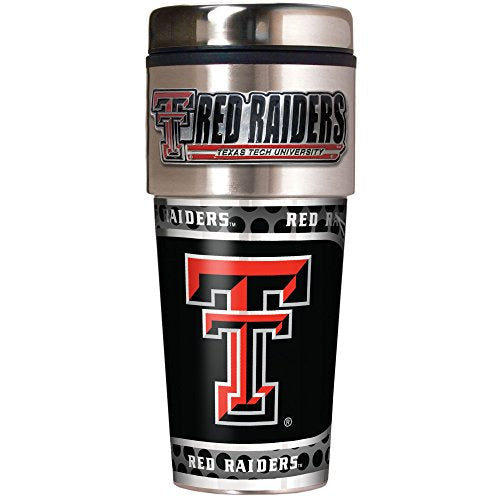NCAA Texas Tech Red Raiders Metallic Travel Tumbler,  16-Ounce