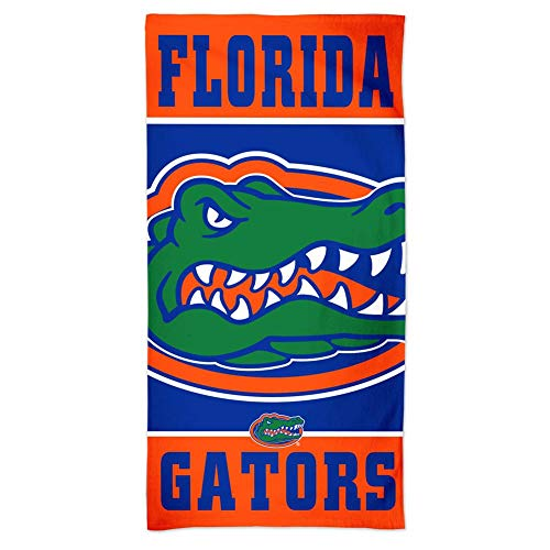 NCAA University of Florida Gators 30 x 60 inch Vertical Cotton Beach Towel