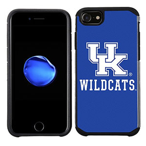 Prime Brands Group Textured Team Color Cell Phone Case for Apple iPhone 8/7/6S/6 - NCAA Licensed University of Kentucky Wildcats