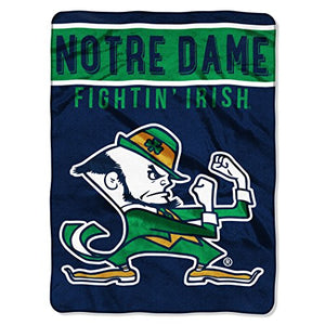 "The Northwest Company Officially Licensed NCAA Notre Dame Fightin Irish Basic Raschel Throw Blanket, 60"" x 80"", Navy"