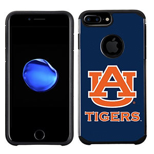 Prime Brands Group Textured Team Color Cell Phone Case for Apple iPhone 8 Plus/7 Plus/6S Plus/6 Plus - NCAA Licensed Auburn University Tigers