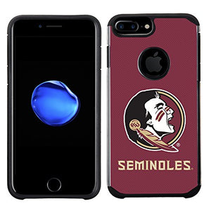 Prime Brands Group Textured Team Color Cell Phone Case for Apple iPhone 8 Plus/7 Plus/6S Plus/6 Plus - NCAA Licensed Florida State University Seminoles