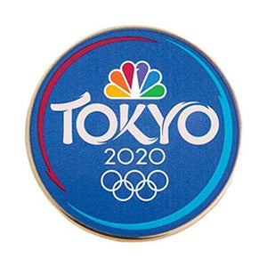 2020 Summer Olympics Tokyo Japan NBC Sports Blue Lapel Pin