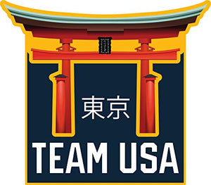 2020 Summer Olympics Tokyo Japan Team USA Floating Torii Gate Metal Lapel Pin