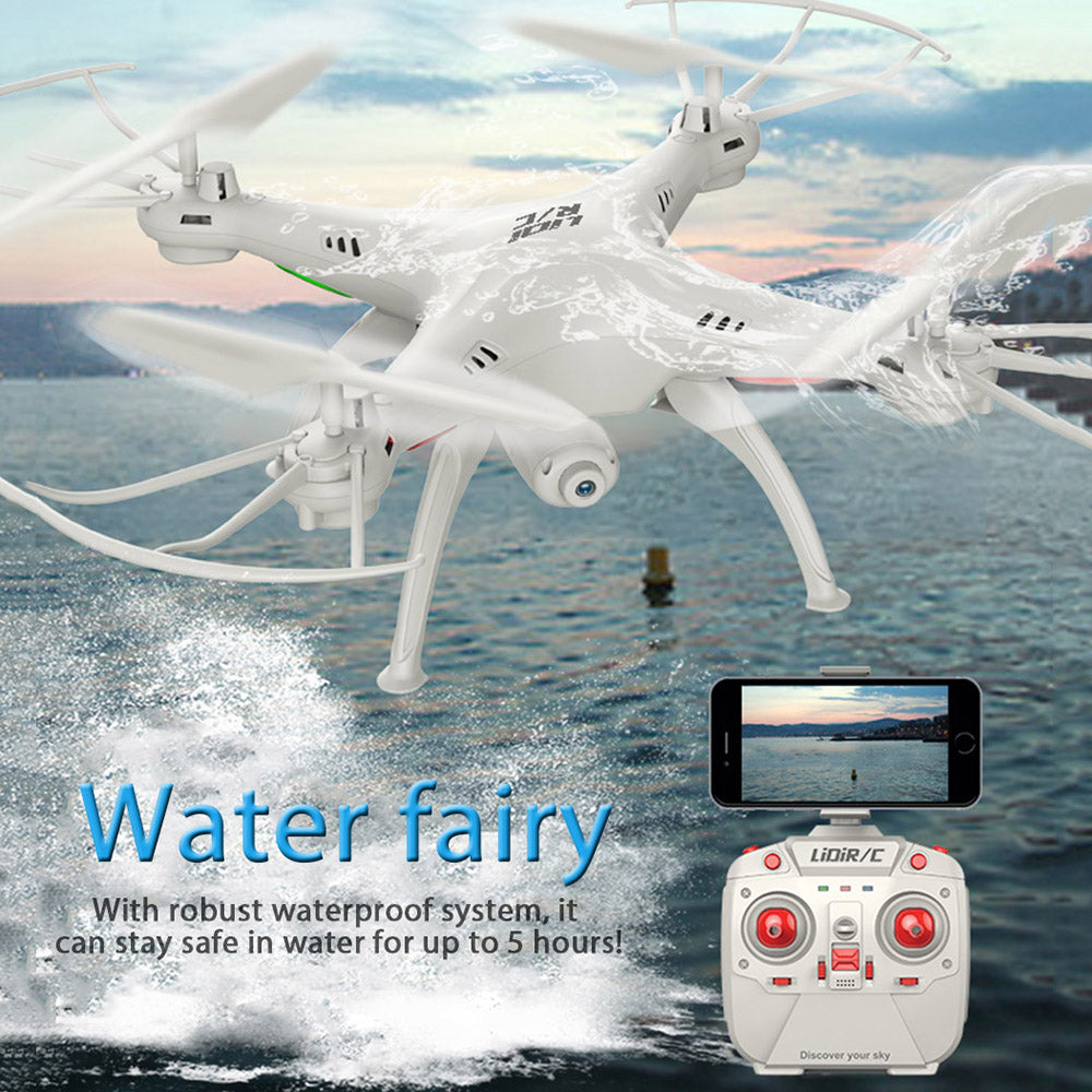 Waterproof RC Drone With WiFi FPV HD Camera LiDiRC L15FW Quadcopter 2.4GHz 4CH 6 Axis Gyro Headless Mode Helicopter VS JJRC H37
