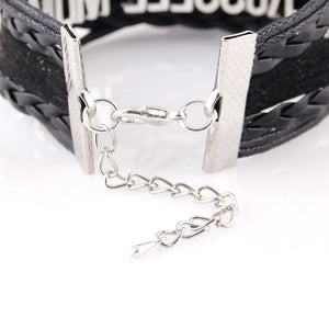Little Minglou Infinity Love volleyball MOM Charm bracelet