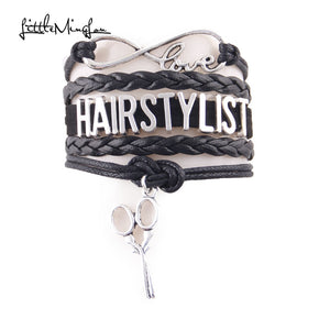 Little Minglou Infinity Love Hair Stylist bracelet