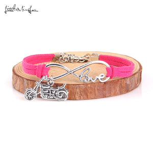 Little Minglou Infinity love Harley Motorcycle charm bracelet (12 Styles)