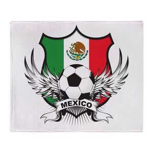 "Mexico World Cup Olympics Soccer Soft Fleece Stadium Sports Blanket, 50""x60"""