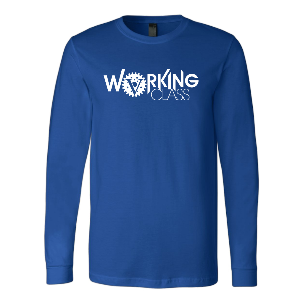 Working Class Men's Long Sleeve Shirt (White Logo) - Big V of Nappy Roots