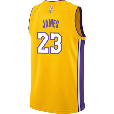 Men's Nike Lebron James Los Angeles Lakers Swingman Jersey (FREE Worldwide Shipping)