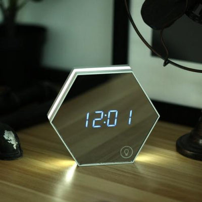 Digital LED Alarm Clock & Touch Sensor Night Light with Temperature Display & Adjustable Lighting