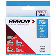 Staples (QTY 1250) 10mm