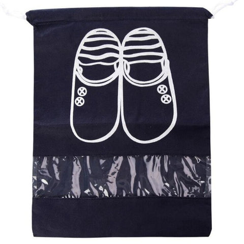 Shoe Bag in Classic Black or Sky Blue - No1 Must Have Travel Item!