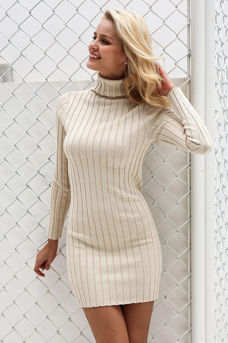 Turtleneck Dress By Sara - Sun Whispers Boutique